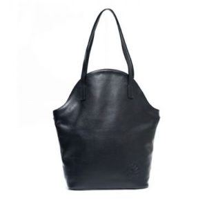 Shopping bag Marie Lou handmade black cowhide leather bag