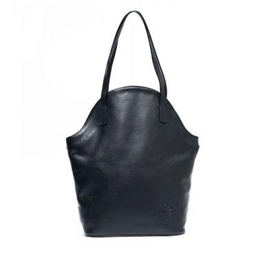 Shopping bag Marie Lou handmade black cowhide leather bag
