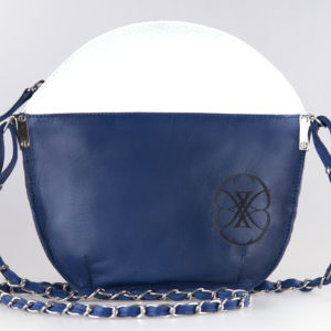 Sarah Li Majorelle M two-sided clutch bag
