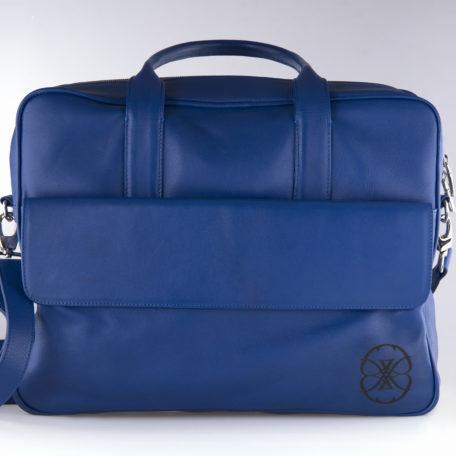 Binder Vanessa Majorelle handmade blue cowhide leather binder Vanessa Majorelle blue leather binder