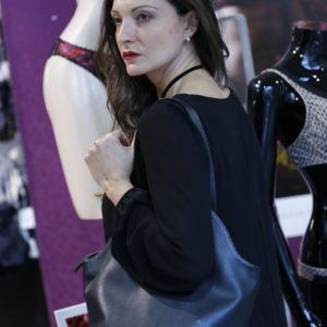 Einkaufstasche Marie Lou Ebene handgefertigtes schwarzes Rindsleder Einkaufstasche Marie Lou Ebene schwarze Rindsledertasche Einkaufstasche marie lou Rindsledertasche