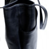 aicha ebene bag face black cowhide leather bag black cowhide leather bag black cowhide leather bag