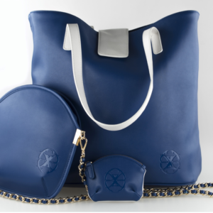 designer microfiber handbag set