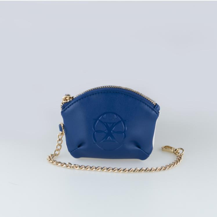 Lola Majorelle and White microfibre coin purse