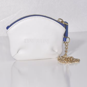 Lola Majorelle and White microfibre coin purse