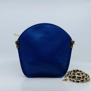 Sarah Li Majorelle Microfibre clutch bag