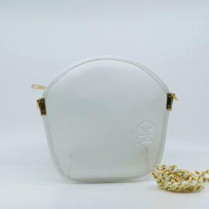 Sarah Li White Microfiber Pouch