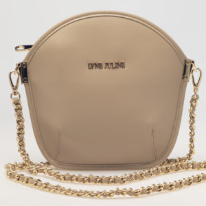 Sarah Li Champagne clutch bag