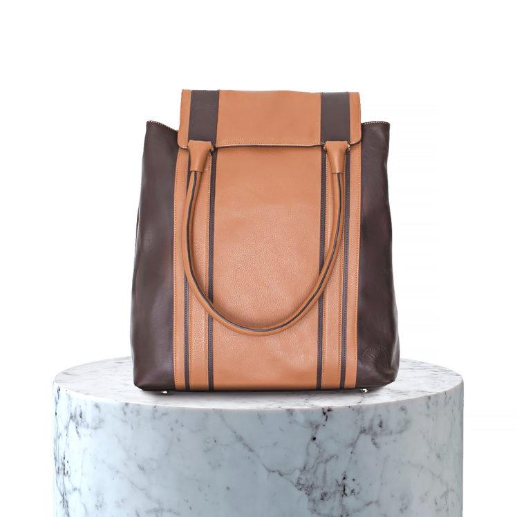 sac en cuir marron