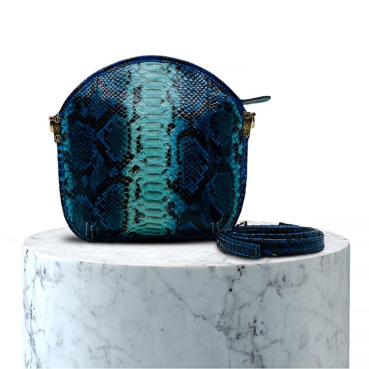 pochette en cuir de python