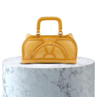 sac porté main en cuir beige