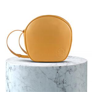 pochette en cuir beige