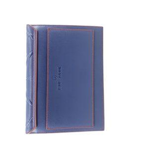 pochette en cuir iPad bleu et rouge