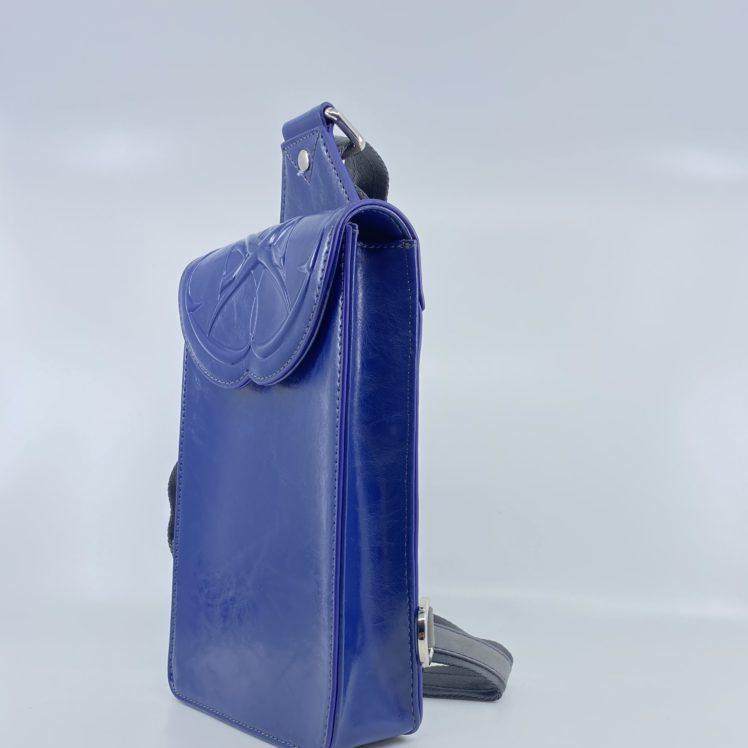 sacoche homme bleu et gris